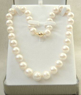 "13: Elegant AAA+ 9-10MM White Pearl Necklace 18""   MWF1"