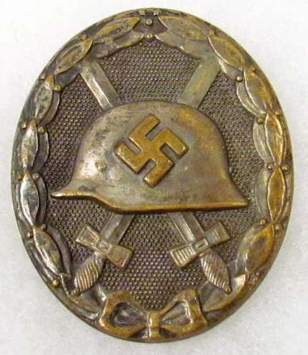 4: GERMAN NAZI ARMY WOUND BADGE - TYPE 1