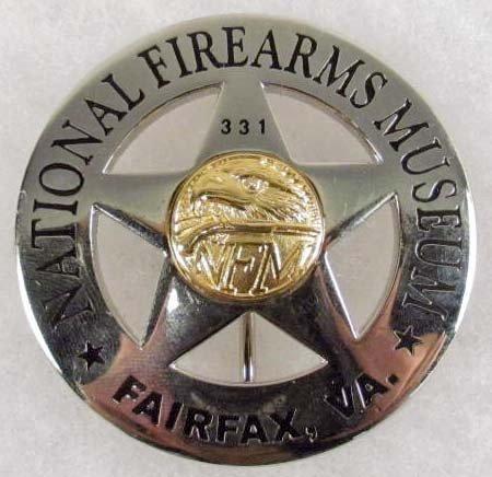 5: NATIONAL FIREARMS MUSEUM NFM FAIRFAX VA BADGE