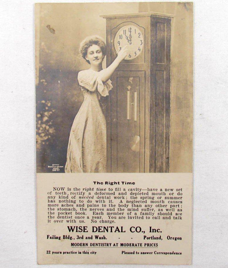 13: RARE 1910 RPPC REAL PHOTO POSTCARD DENTAL ADVERTISI