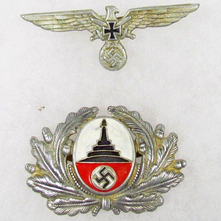 17: SET OF GERMAN NAZI VISOR CAP BADGES