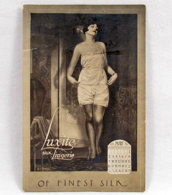 18: RARE 1926 LUXITE SILK LINGERIE ADVERTISING CARD