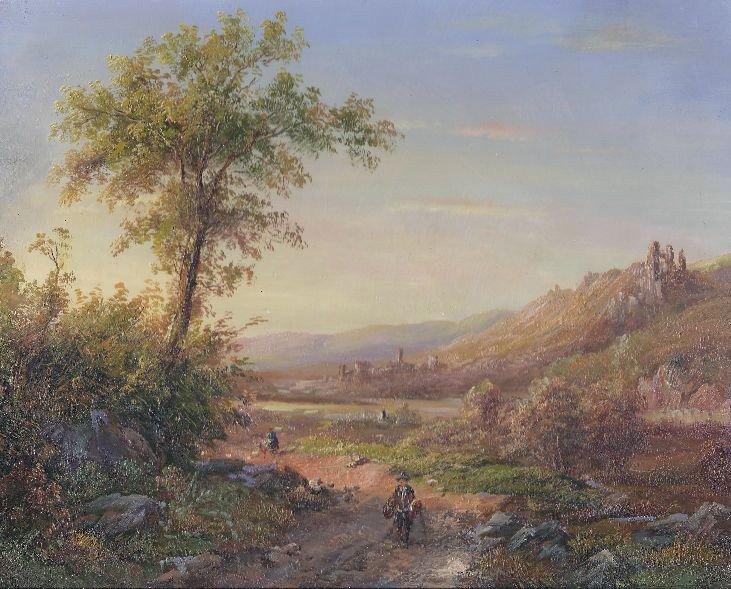 6: MWF1383CC 8 x 10 Oil on Board Depiciting Landscape S