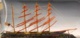 22: Ship in a Bottle - 4 Mast American Bark