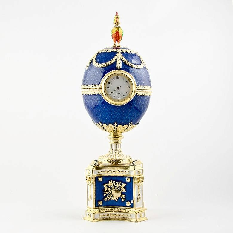 12: MWF1469 Faberge Egg, Kelch Chanticleer Russian Impe