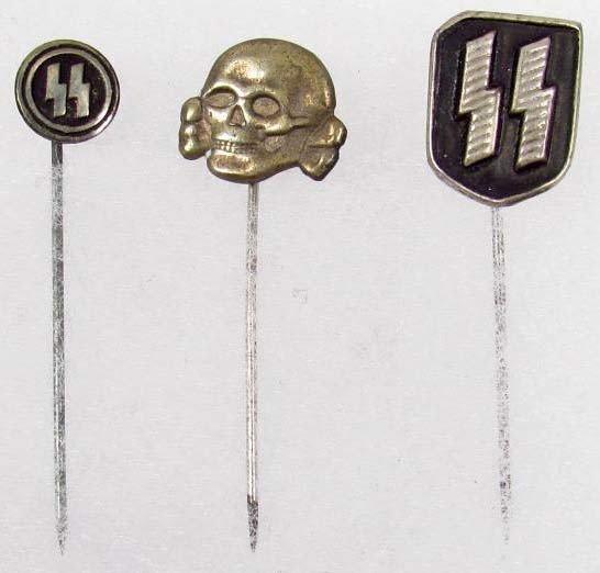 10: LOT OF 3 GERMAN NAZI STICK PINS