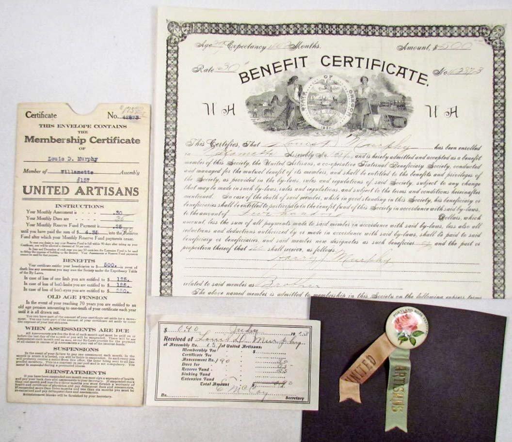 15: RARE 1913 UNITED ARTISANS PORTLAND ROSE  FESTIVAL P