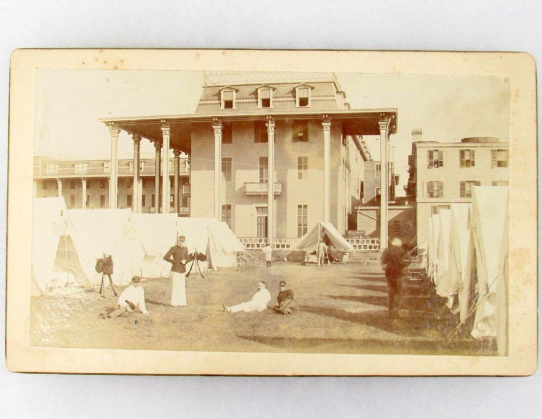 24: EARLY HISTORIC ENCAMPMENT PHOTO IN THE CAPE MAY / A