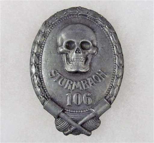 136a Ww1 Imperial German Stormtrooper Badge W Screw B