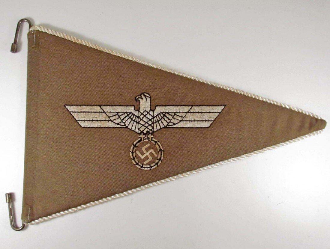 353: GERMAN NAZI ARMY OFFICERS TROPICAL STAFF CAR PENNA