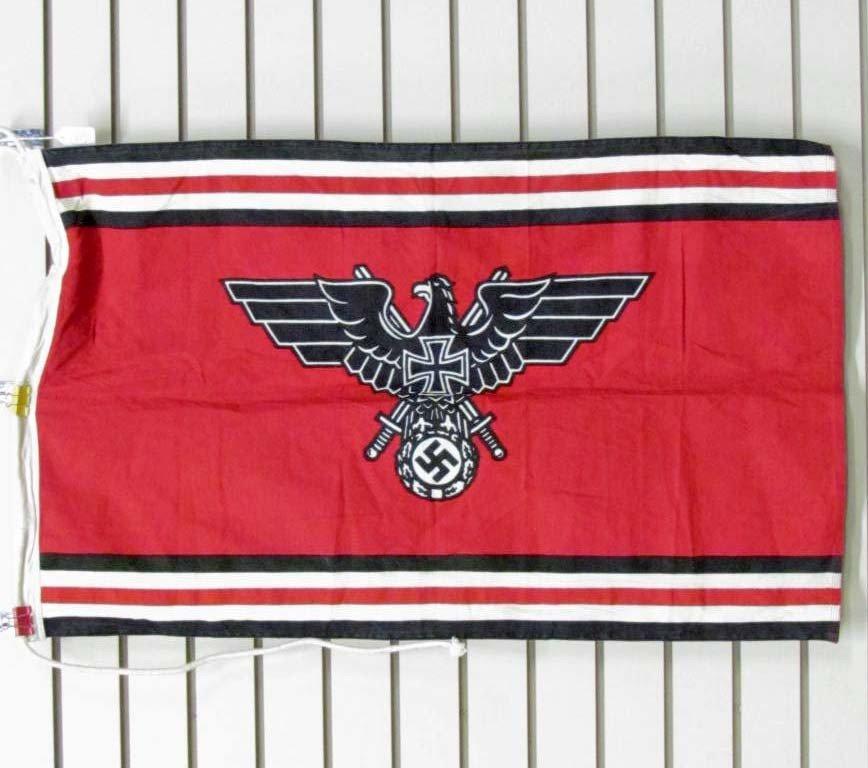 "359: GERMAN NAZI VETERAN'S BANNER FLAG - 22"" X 35.5"" -"