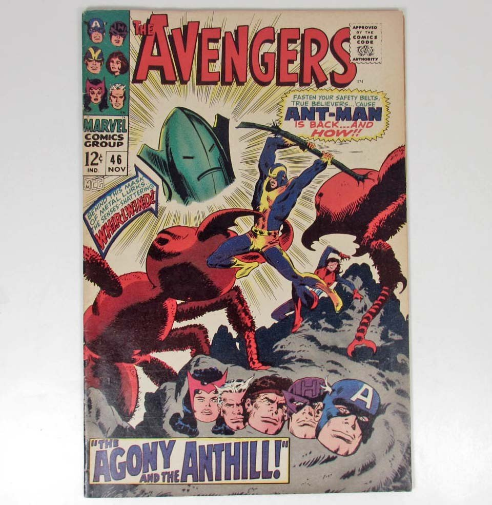 363: 1967 THE AVENGERS NO. 46 COMIC BOOK- 12 CENT COVER