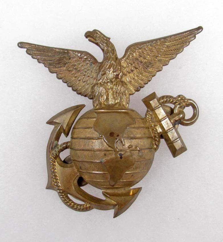 367: USMC 1892 MARINE CORPS SHAKO HELMET FRONT PLATE -