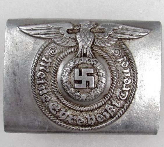 370: GERMAN NAZI WAFFEN SS EM BELT BUCKLE