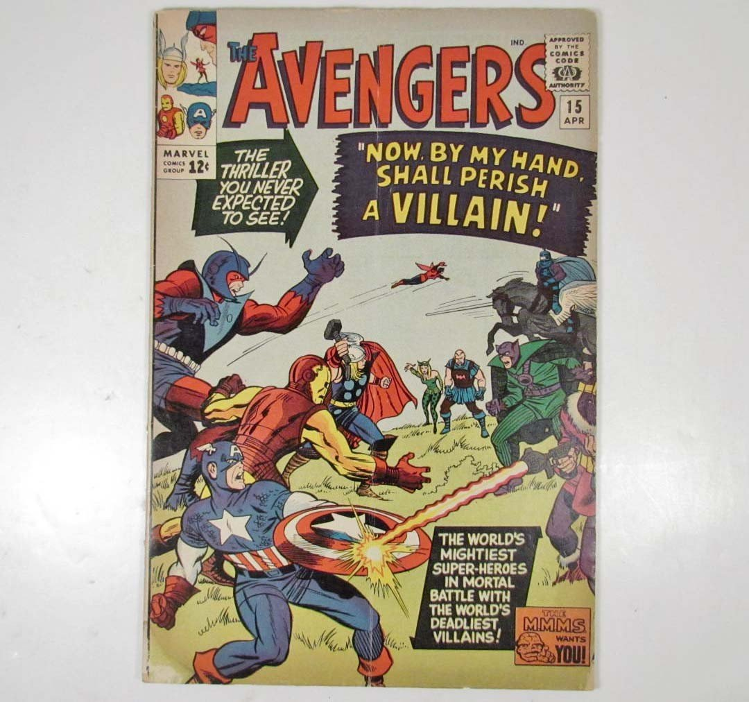 373: 1965 THE AVENGERS NO. 15 COMIC BOOK - 12 CENT COVE