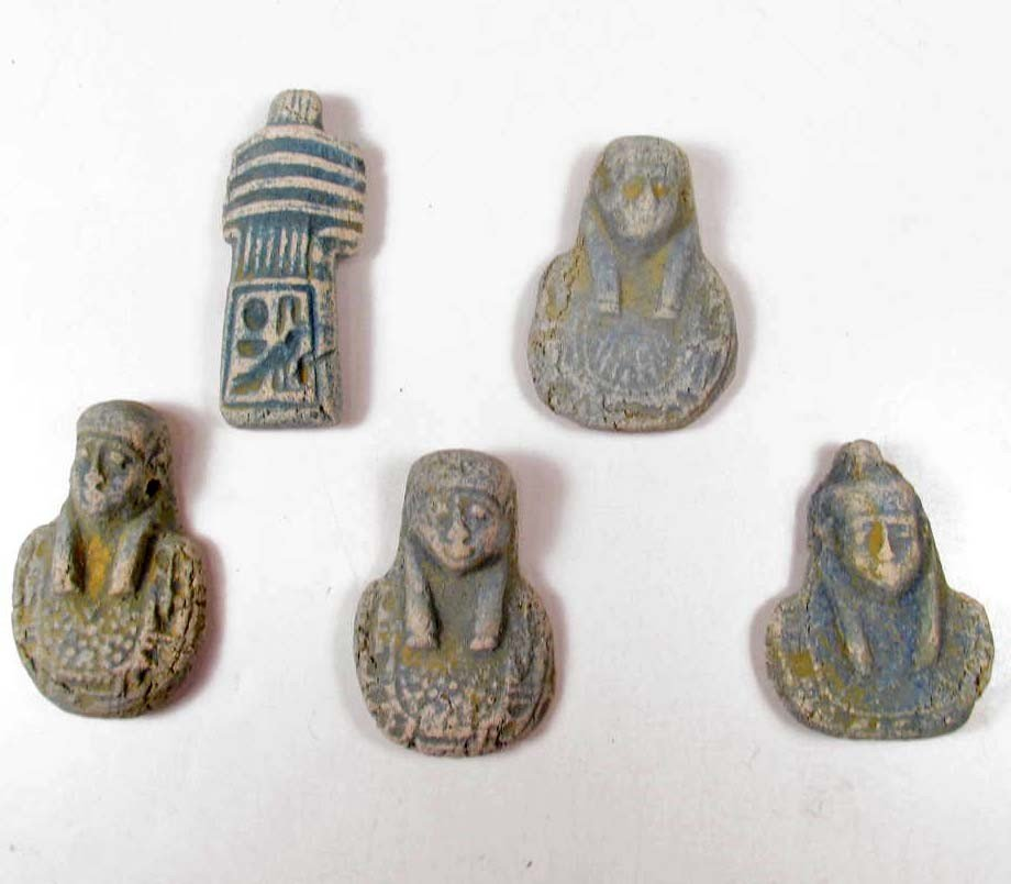 10: LOT OF 5 EGYPTIAN PHARAONIC ITEMS