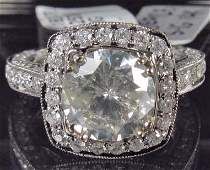 118: 14K WHITE GOLD LADIES DIAMOND RING - SIZE 7.25