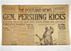 "246: 1918 NEWSPAPER ""THE PORTLAND NEWS"" PORTLAND, OREGO"