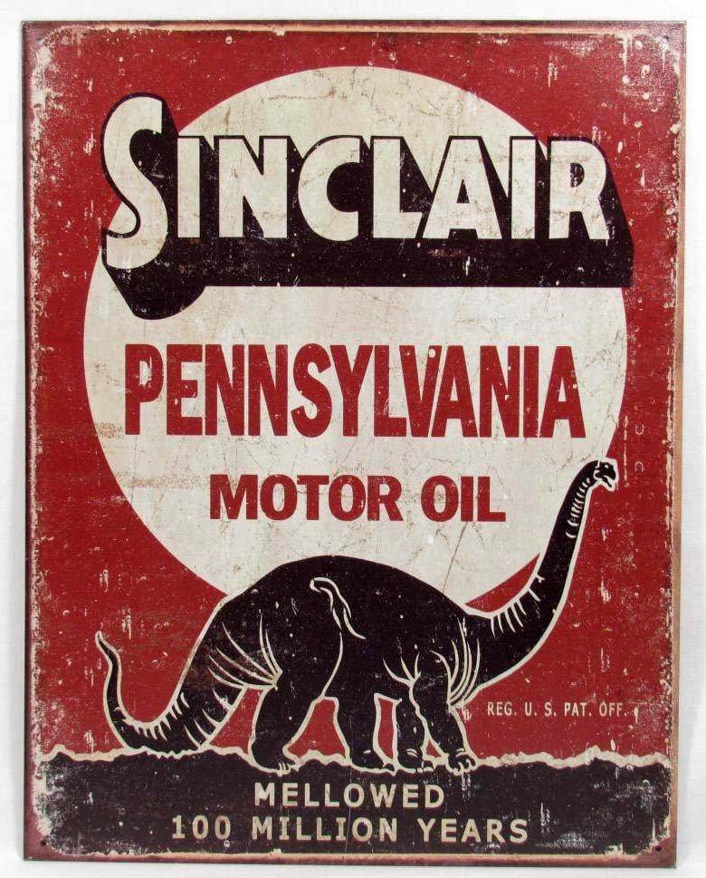 "12: 6829 - SINCLAIR OIL METAL SIGN - 12.5"" X 16"""