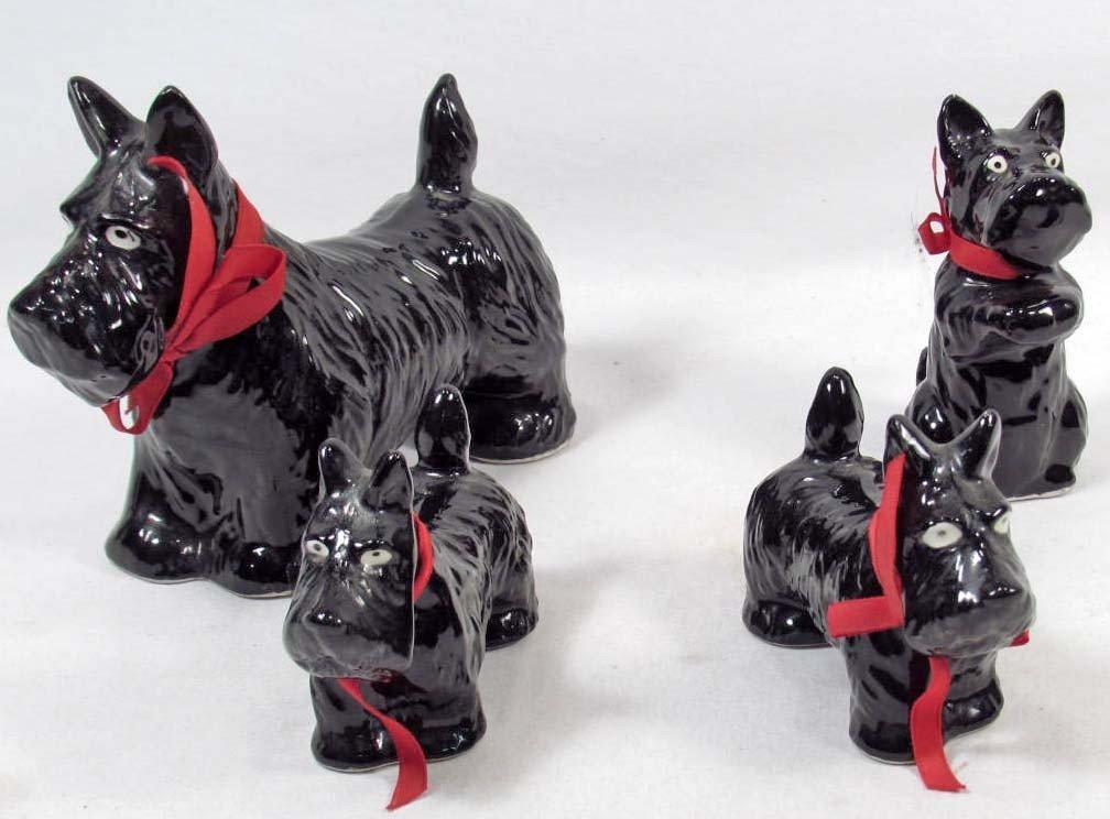 3: LOT OF 4 CERAMIC SCOTTY DOG FIGURINES