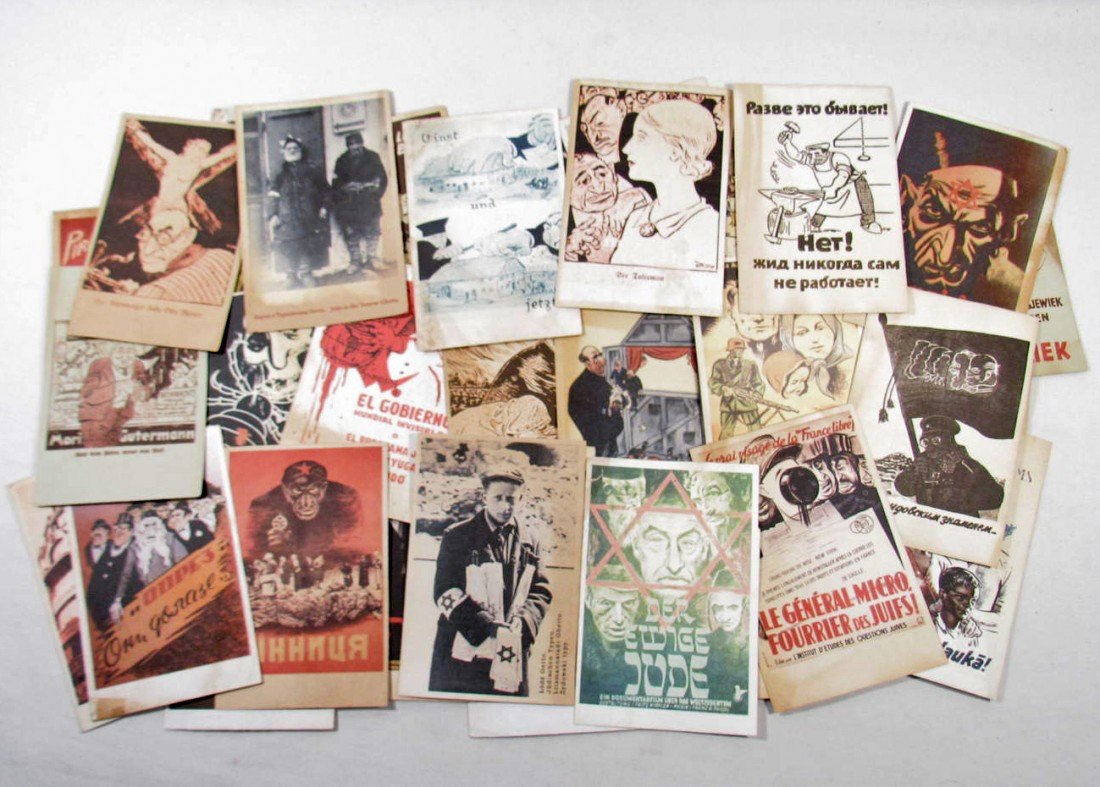 14: LOT OF APPROX. 42 GERMAN NAZI HOLOCAUST, GHETTO CON