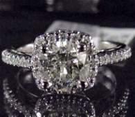 26A: 14K WHITE GOLD LADIES DIAMOND RING - SIZE 7