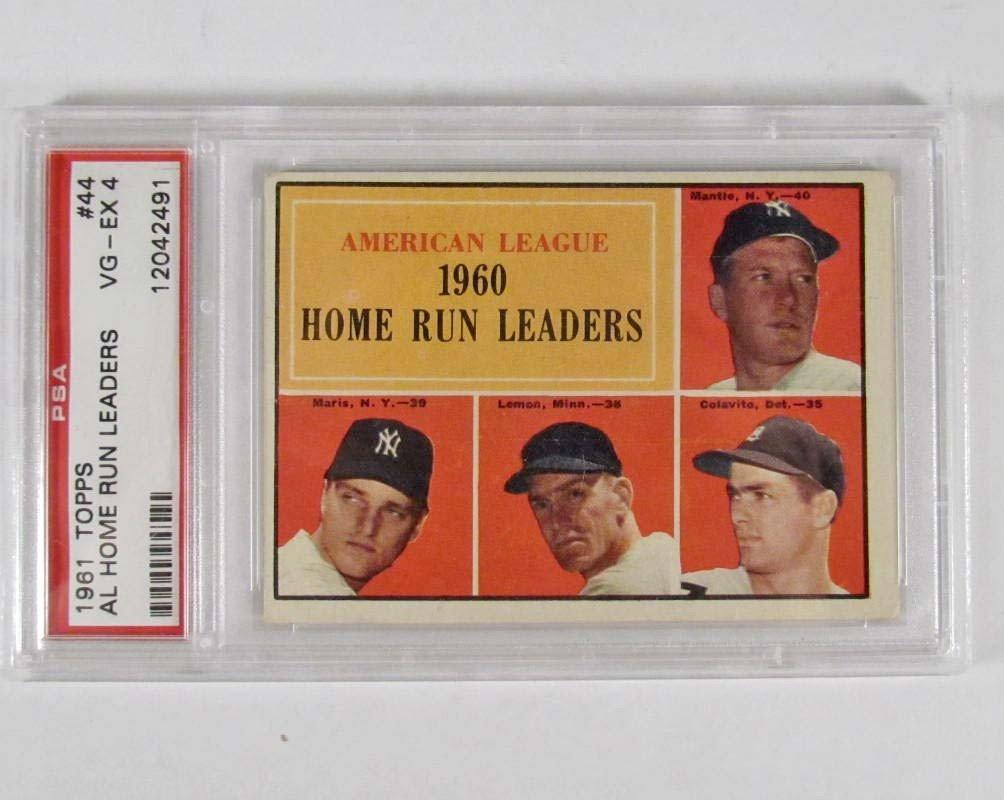2: 1961 TOPPS AL HOME RUN LEADERS NO. 44 BASEBALL CARD
