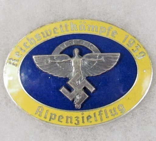 5: GERMAN LUFTWAFFE 1939 NSFK ENAMELED GLIDER BADGE
