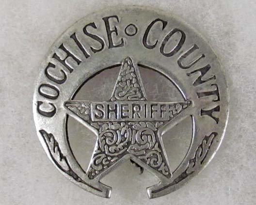 8: OLD WEST COCHISE COUNTY SHERIFF LAW BADGE