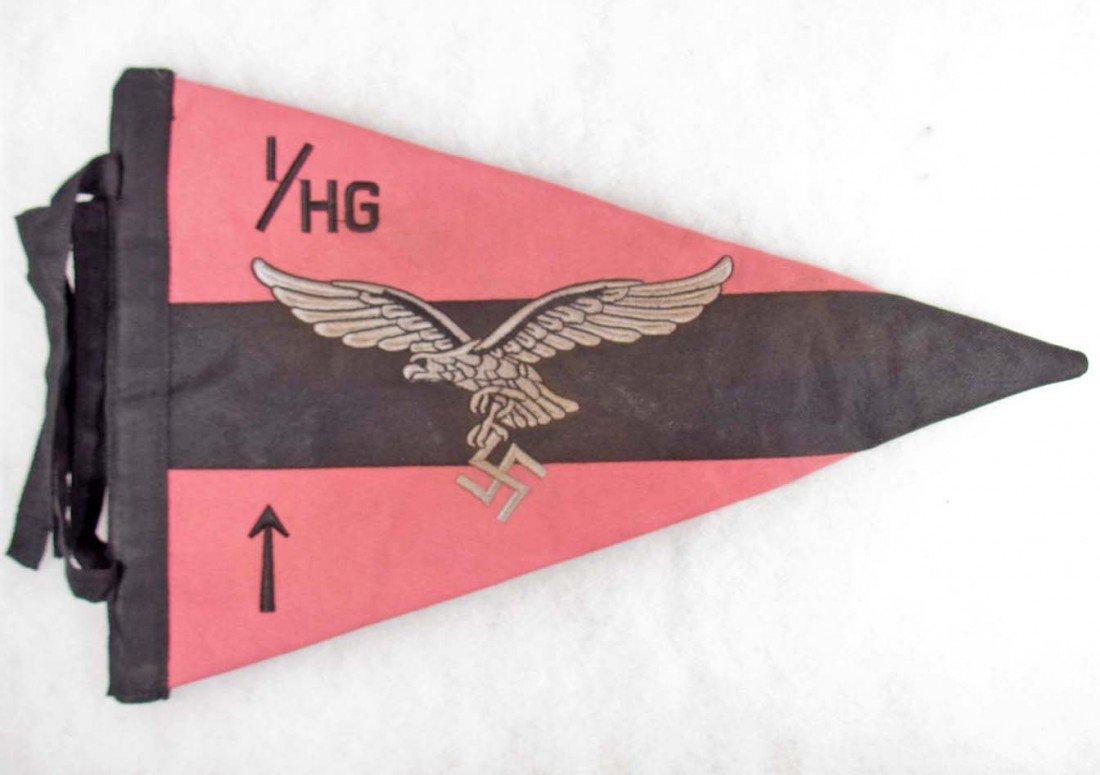 11: GERMAN NAZI LUFTWAFFE PANZER OFFICERS STAFF PENNANT