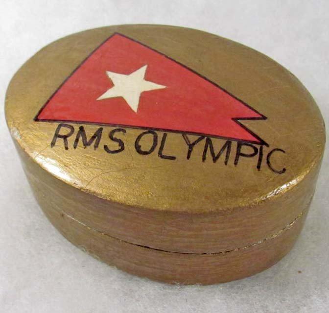 12: VINTAGE RMS OLYMPIC OCEAN LINER WOOD NICK KNACK BOX