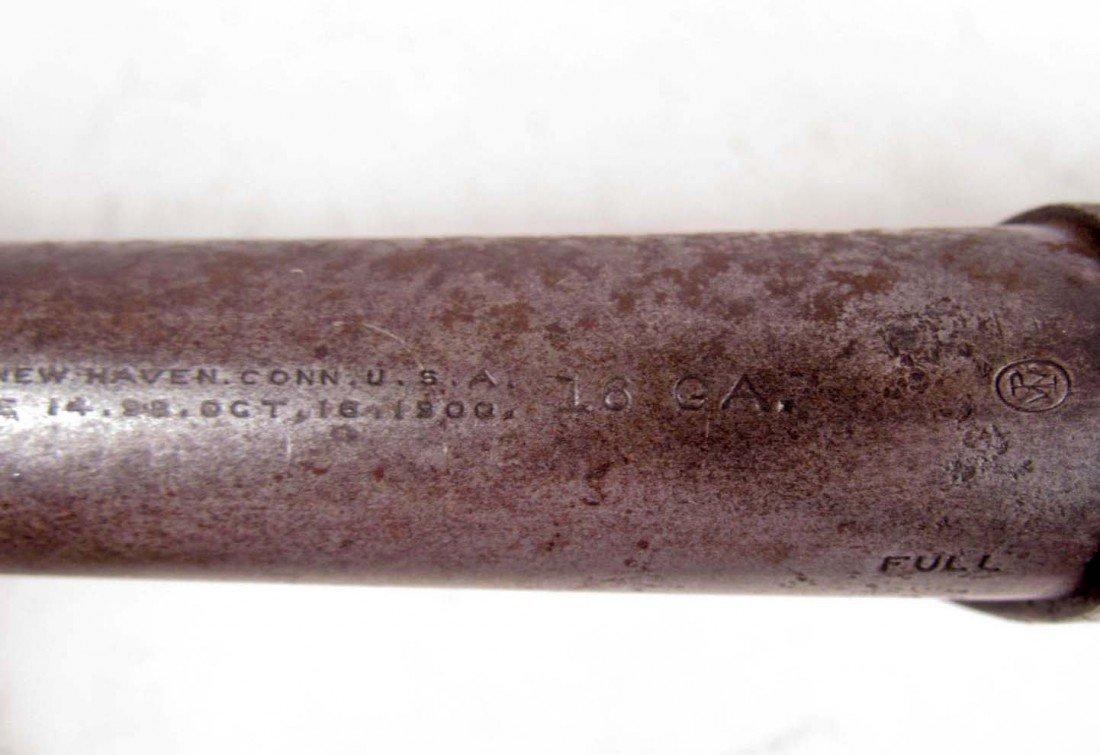 556: ANTIQUE WINCHESTER 16 GAUGE OLD WEST PUMP SHOT GUN - 7