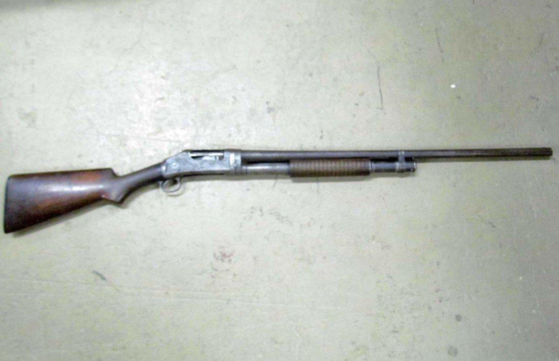 556: ANTIQUE WINCHESTER 16 GAUGE OLD WEST PUMP SHOT GUN - 9