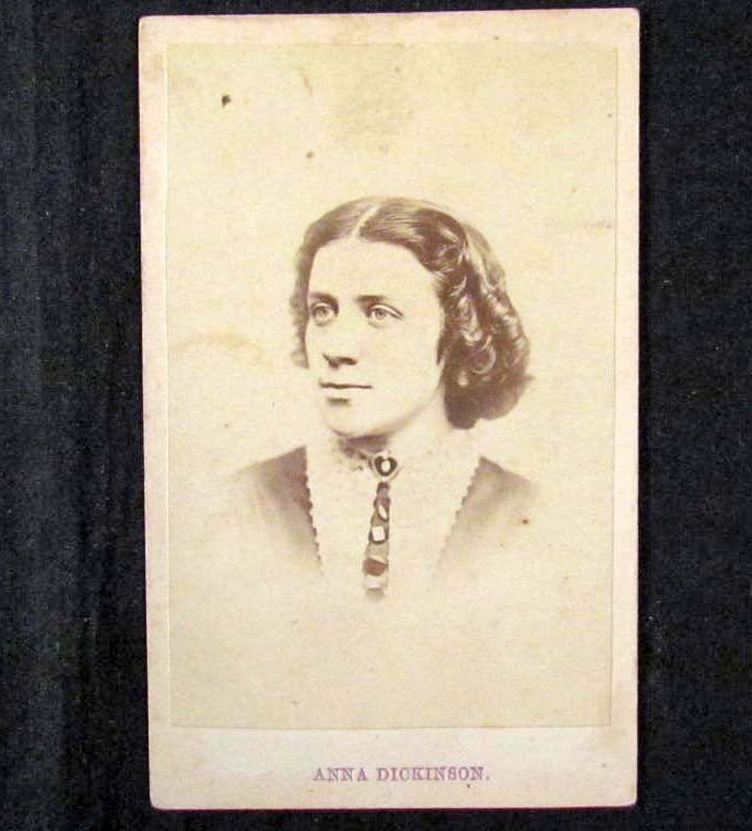 8: EARLY CDV PHOTO OF ANNA DICKINSON