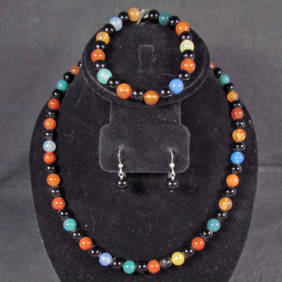 10: ESTATE JEWELRY SET W/ STERLING SILVER CLASPS - 2.2