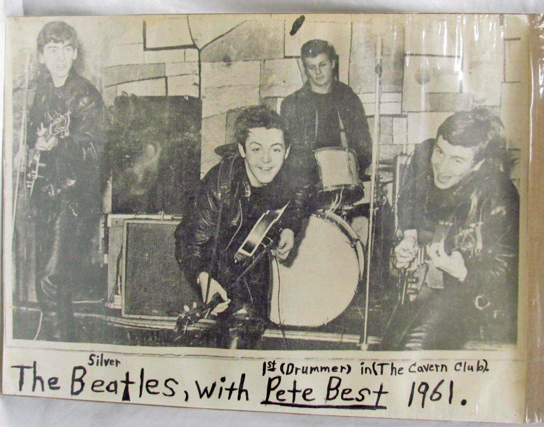57: 1961 BEATLES POSTER W/ PETE BEST