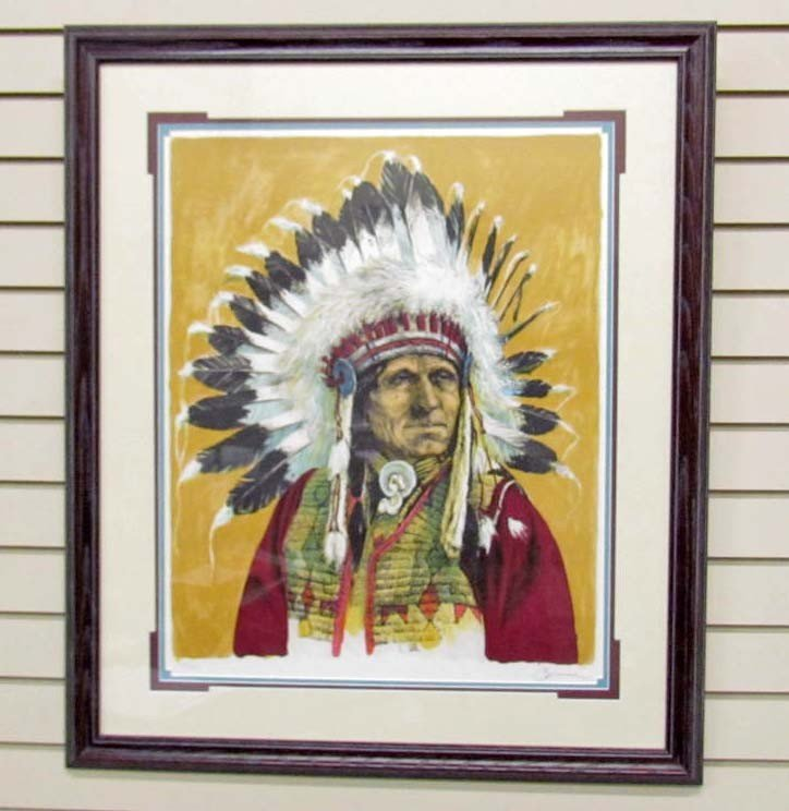 10: LARGE NATIVE AMERICAN PRINT - SIGNED AND NUMBERED -