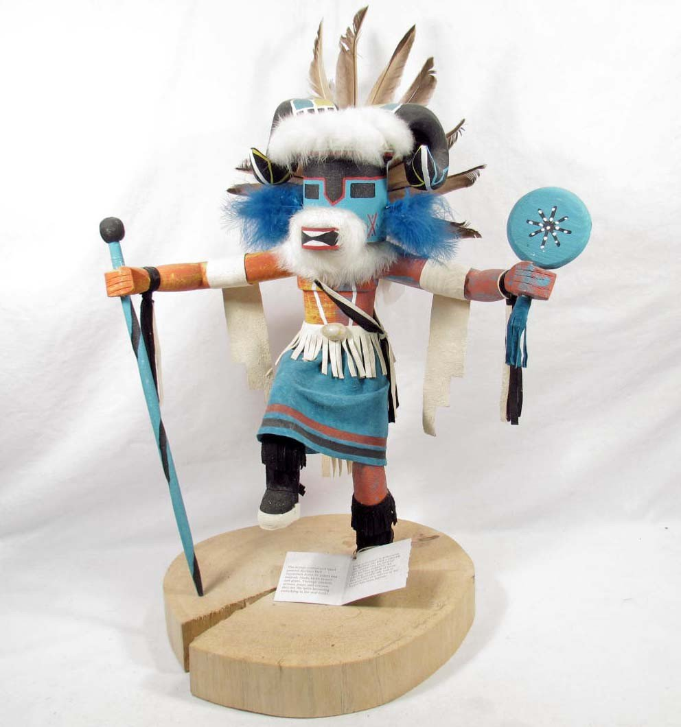 23: LARGE NAVAJO KACHINA DOLL - SIGNED
