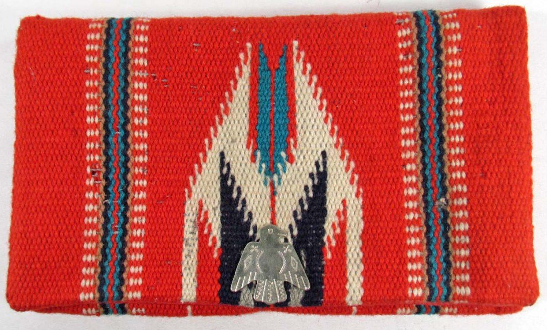 16: VINTAGE HAND WOVEN CHIMAYO WOOL PURSE