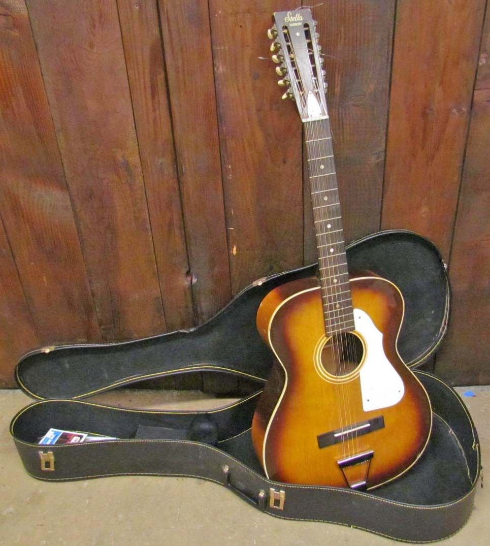 VINTAGE STELLA HARMONY 12 STRING GUITAR W/ CASE