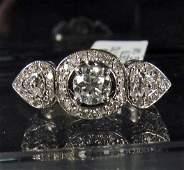 240A: 69267 - 14K WHITE GOLD LADIES DIAMOND RING - SIZE