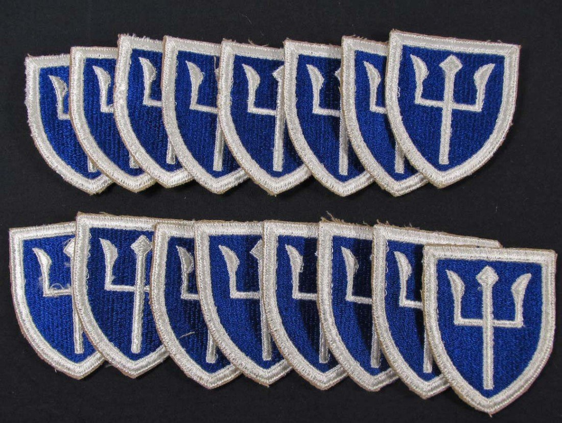 26: LOT OF 16 US ARMY 97TH INFANTRY DIVISION TRIDENT SH