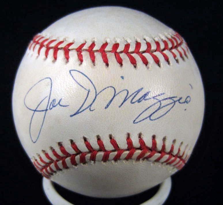 3: JOE DIMAGGIO SIGNED BASEBALL W/ COA