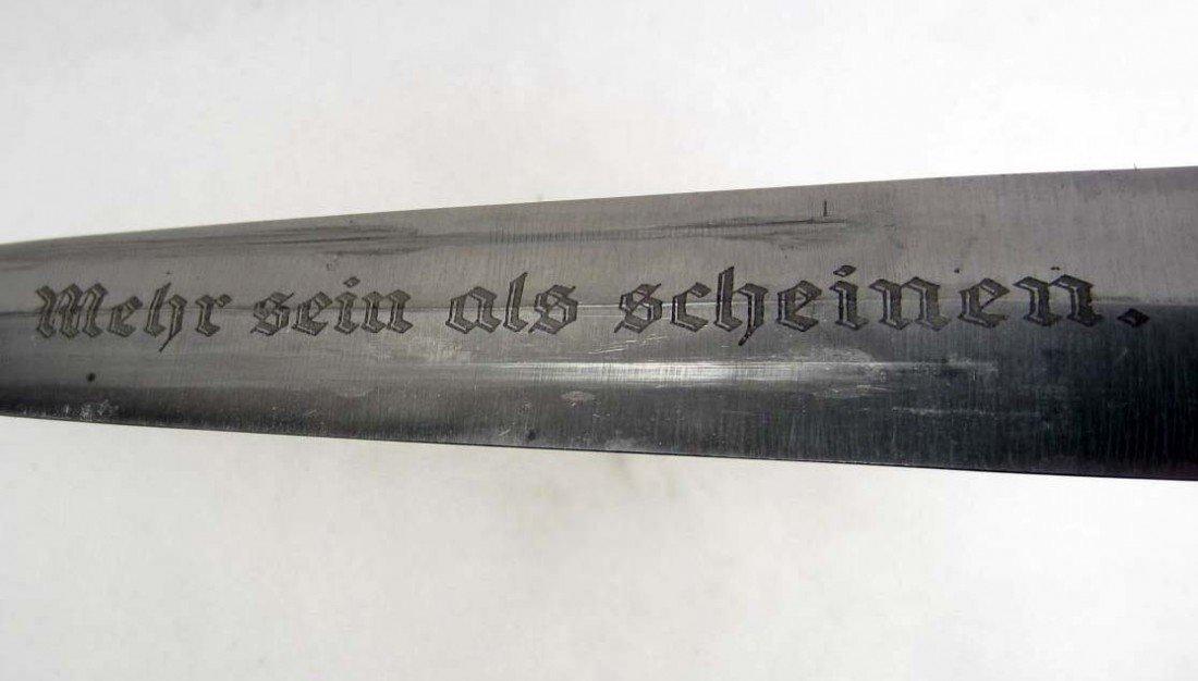49: GERMAN NAZI NPEA STUDENTS DAGGER W/ SCABBARD - 3