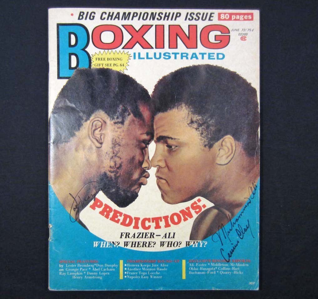 131: 1972 BOXING ILLUSTRATED AUTOGRAPHED MAGAZINE W/ CO