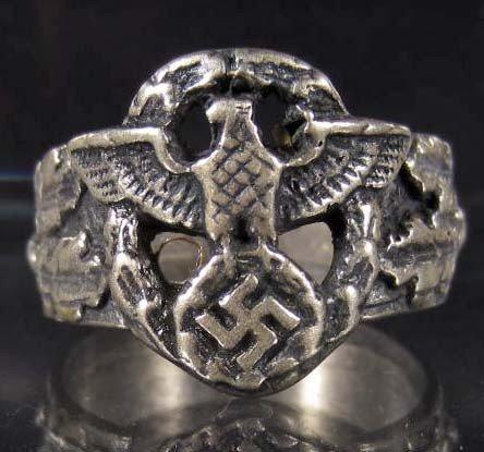 143: STERLING SILVER GERMAN NAZI RING