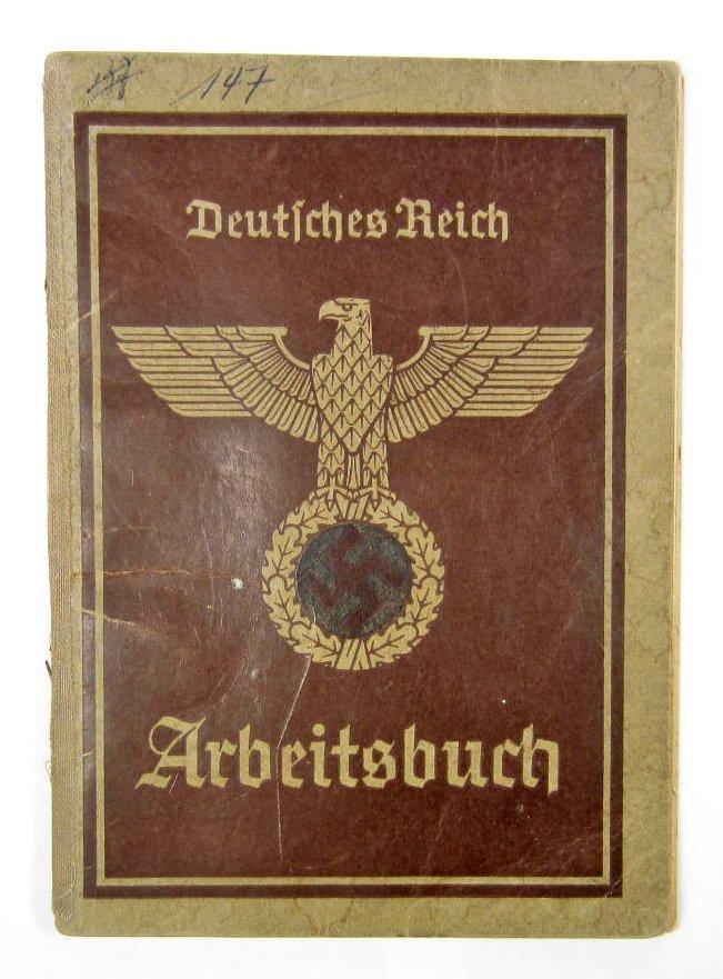 9: GERMAN NAZI DEUTSCHES REICH ARBEITSBUCH WORKERS IDEN