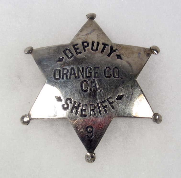 11: OBSOLETE ORANGE COUNTY CA DEPUTY SHERIFF NO. 9 POLI