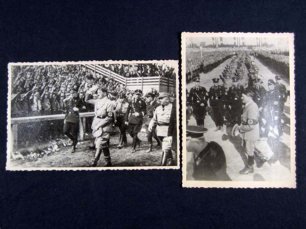 21: LOT OF 2 GERMAN NAZI ADOLF HITLER ARCHIVE PHOTOS