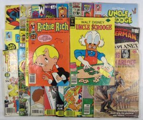 5: LOT OF VINTAGE COMIC BOOKS - INCL. SOME 30 CENT COVE